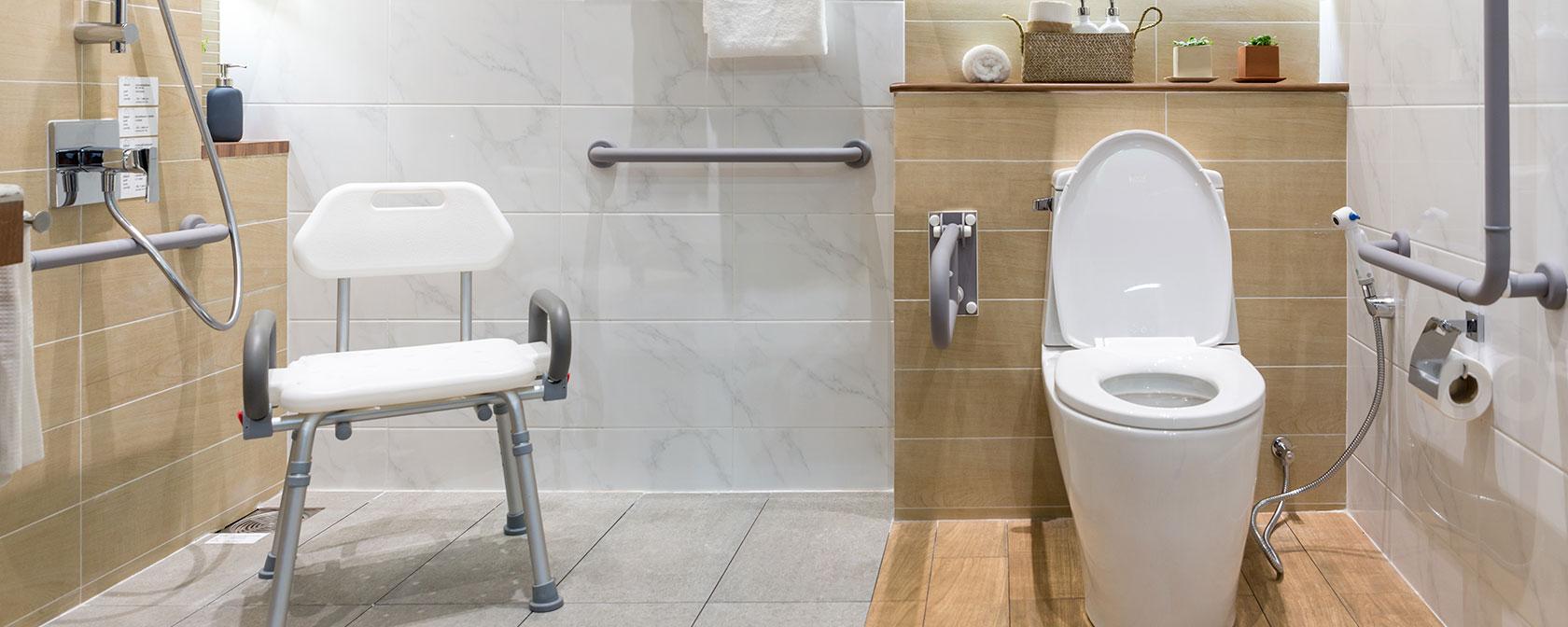 Le matériel médical pour la douche et la salle de bains